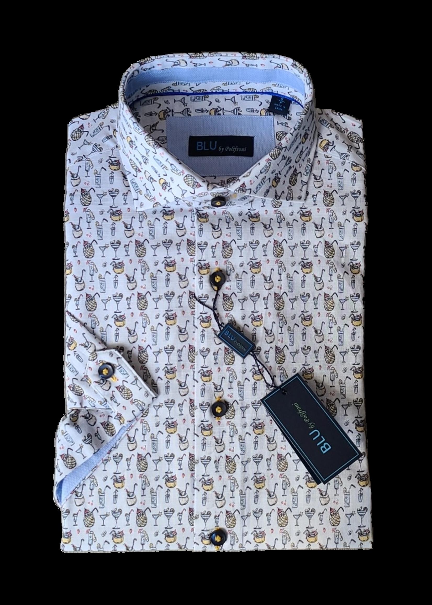 Blu Polifroni B-2147066 Resort Short Sleeve Shirt