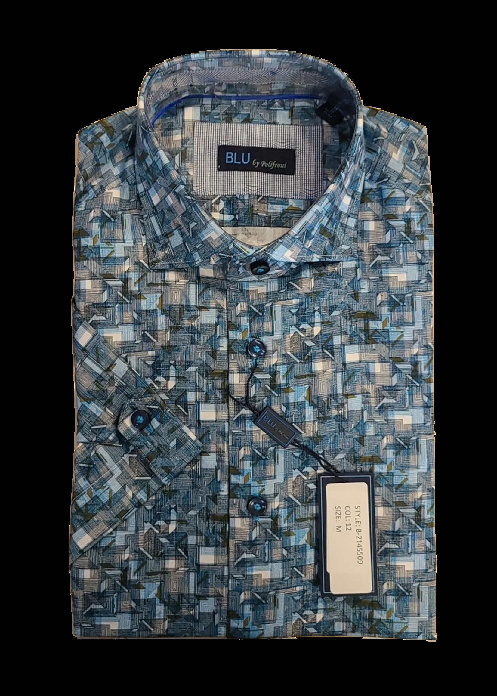 Blu Polifroni B-2145509 Short Sleeve Shirt
