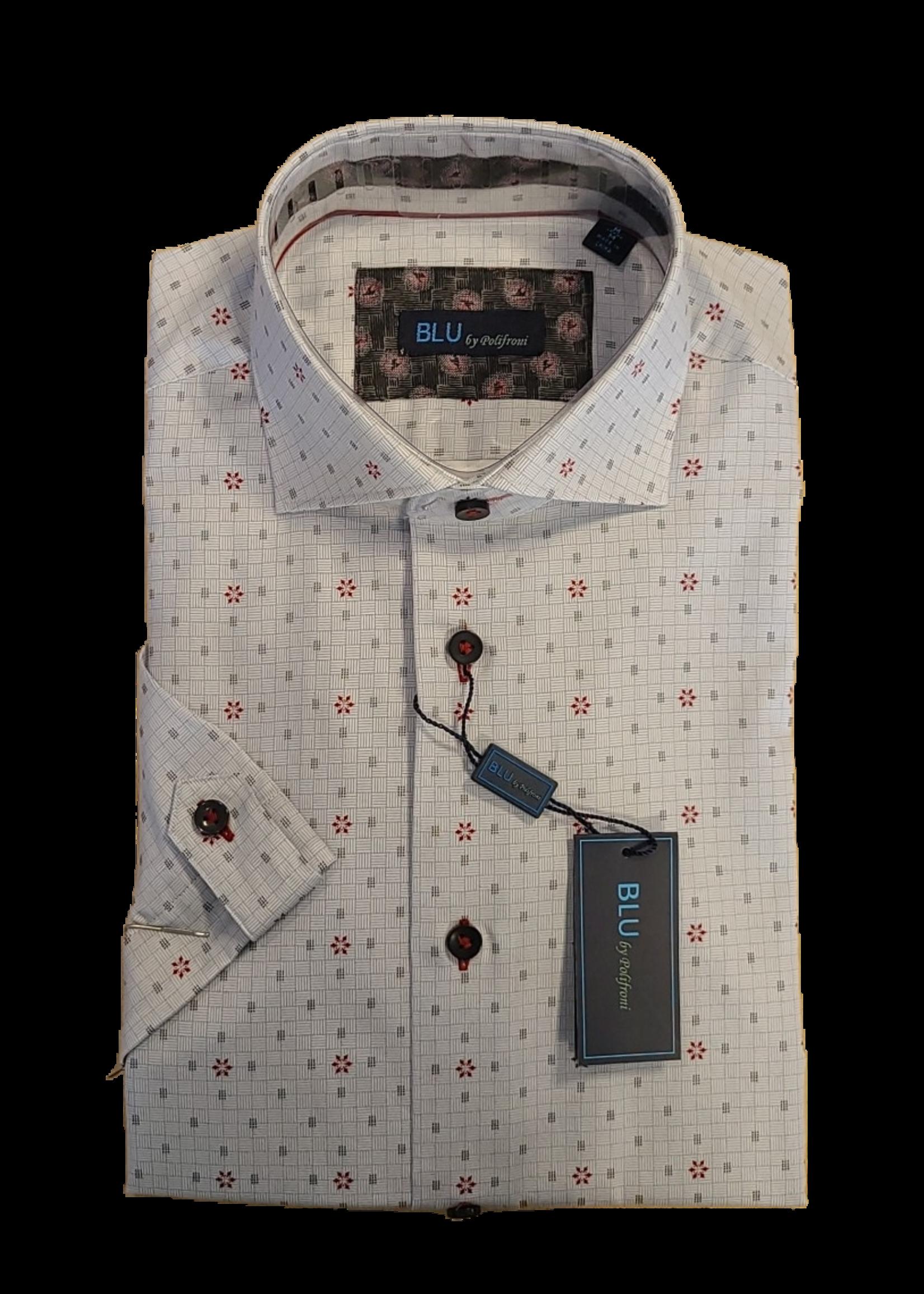 Blu Polifroni B-2045302 Blu Short Sleeve Shirt