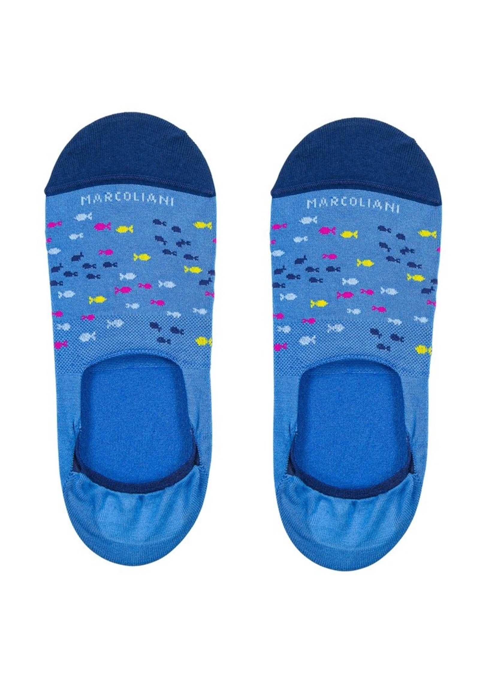 Marcoliani Marcoliani No Show Socks - Original 081 Royal Blue