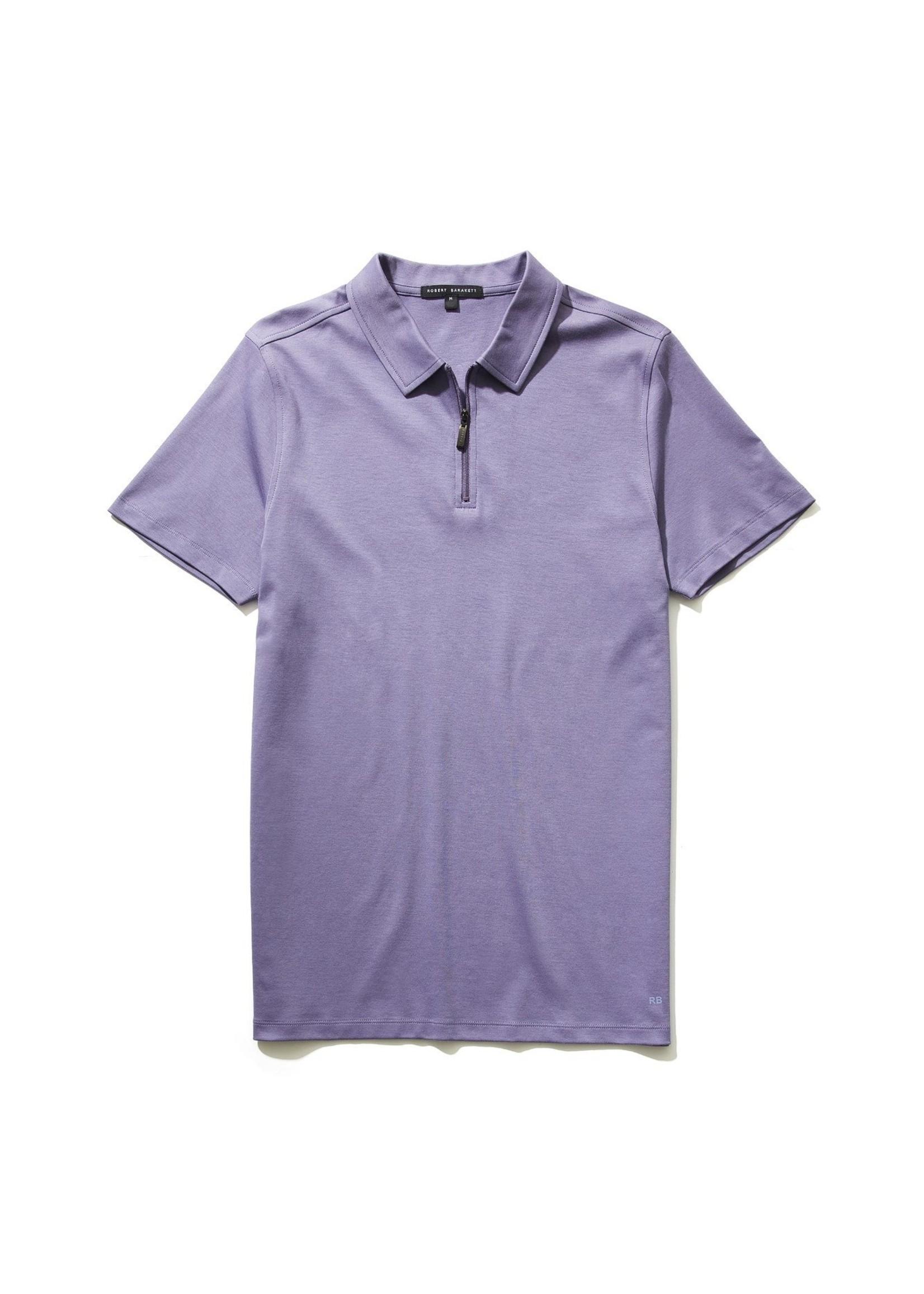 Robert Barakett GEORGIA Zipper Polo Foggy Purple