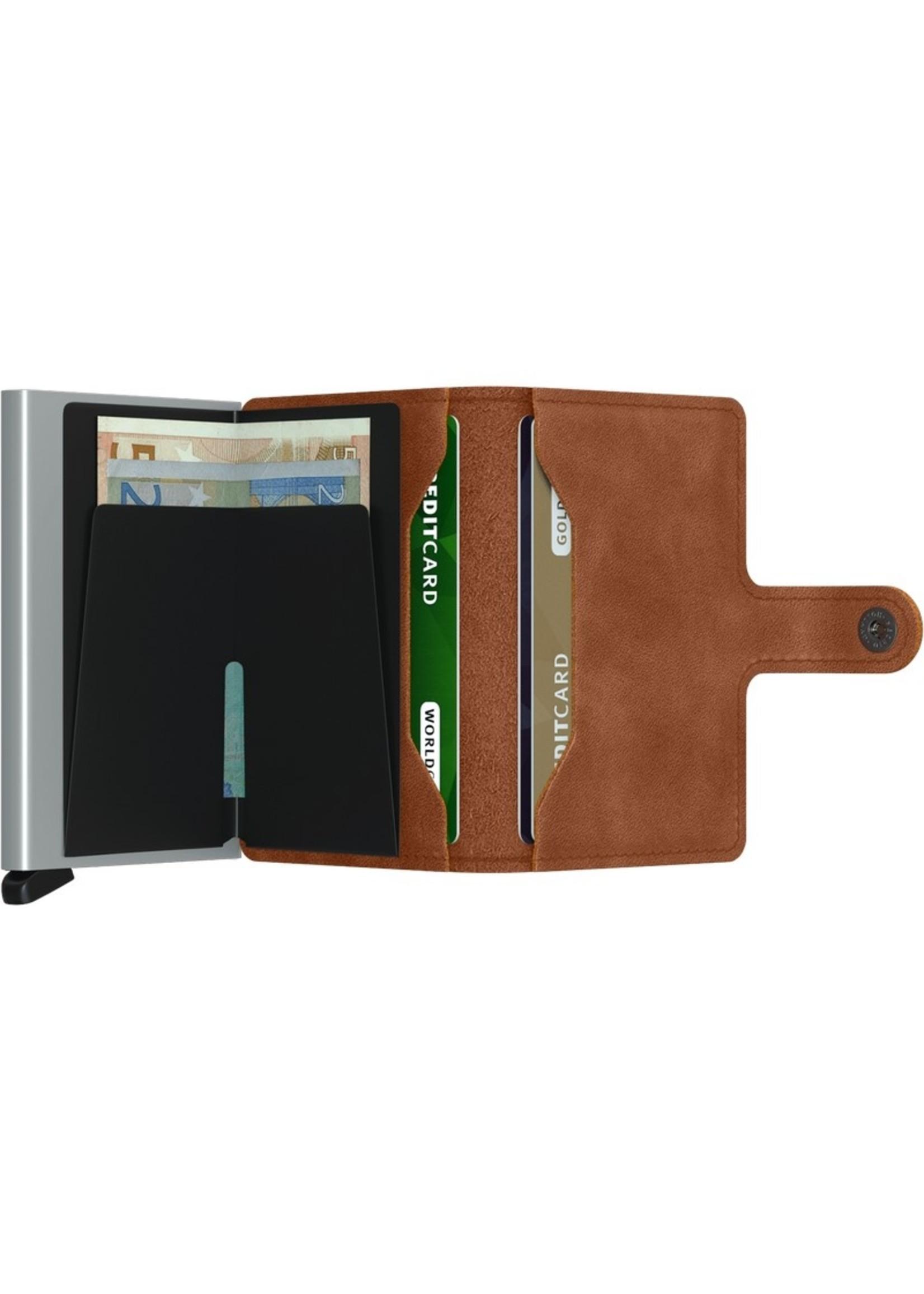 Secrid Wallets Miniwallet Vintage Cognac Silver
