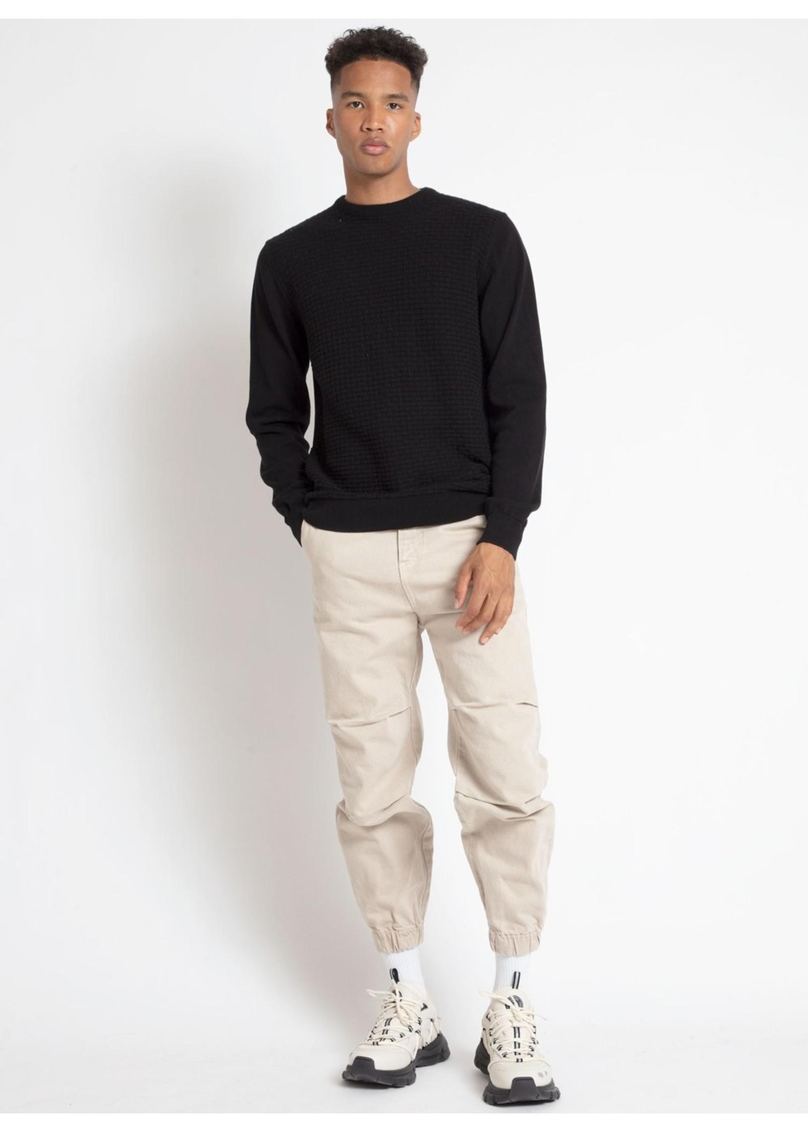 Point Zero Point Zero Brick Stitch Crew-Neck Sweater