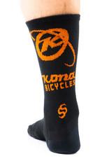 Kona Kona Wool Socks Black and Orange LG