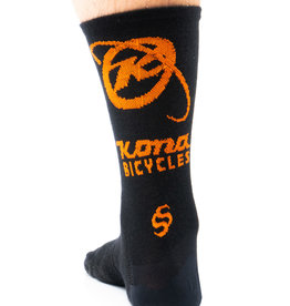Kona Kona Wool Socks Black and Orange LG