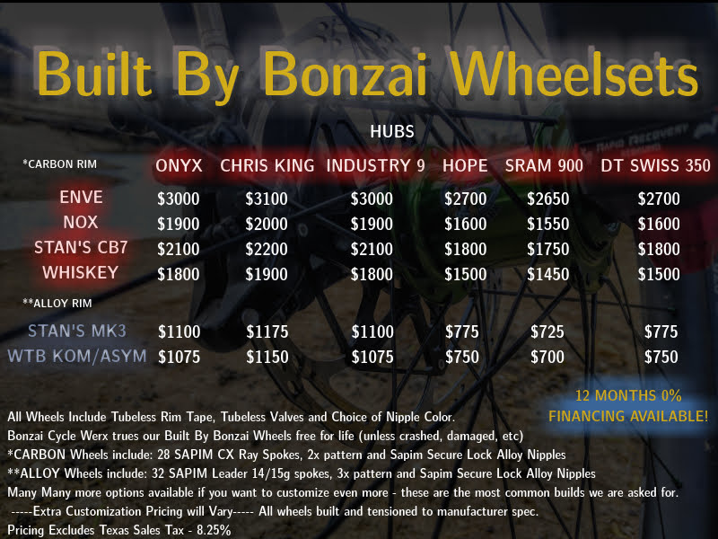 Built By Bonzai Wheelsets