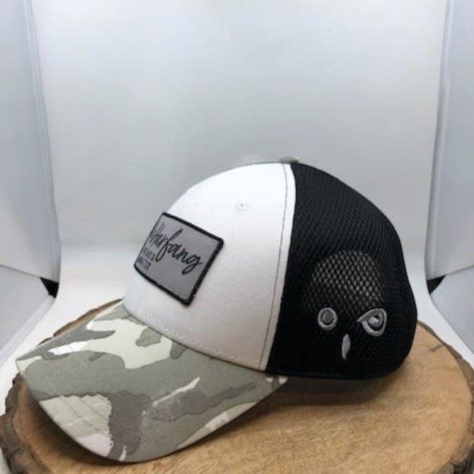 black and white Harfang Cap