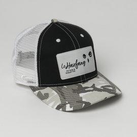 black and grey logo Harfang Cap