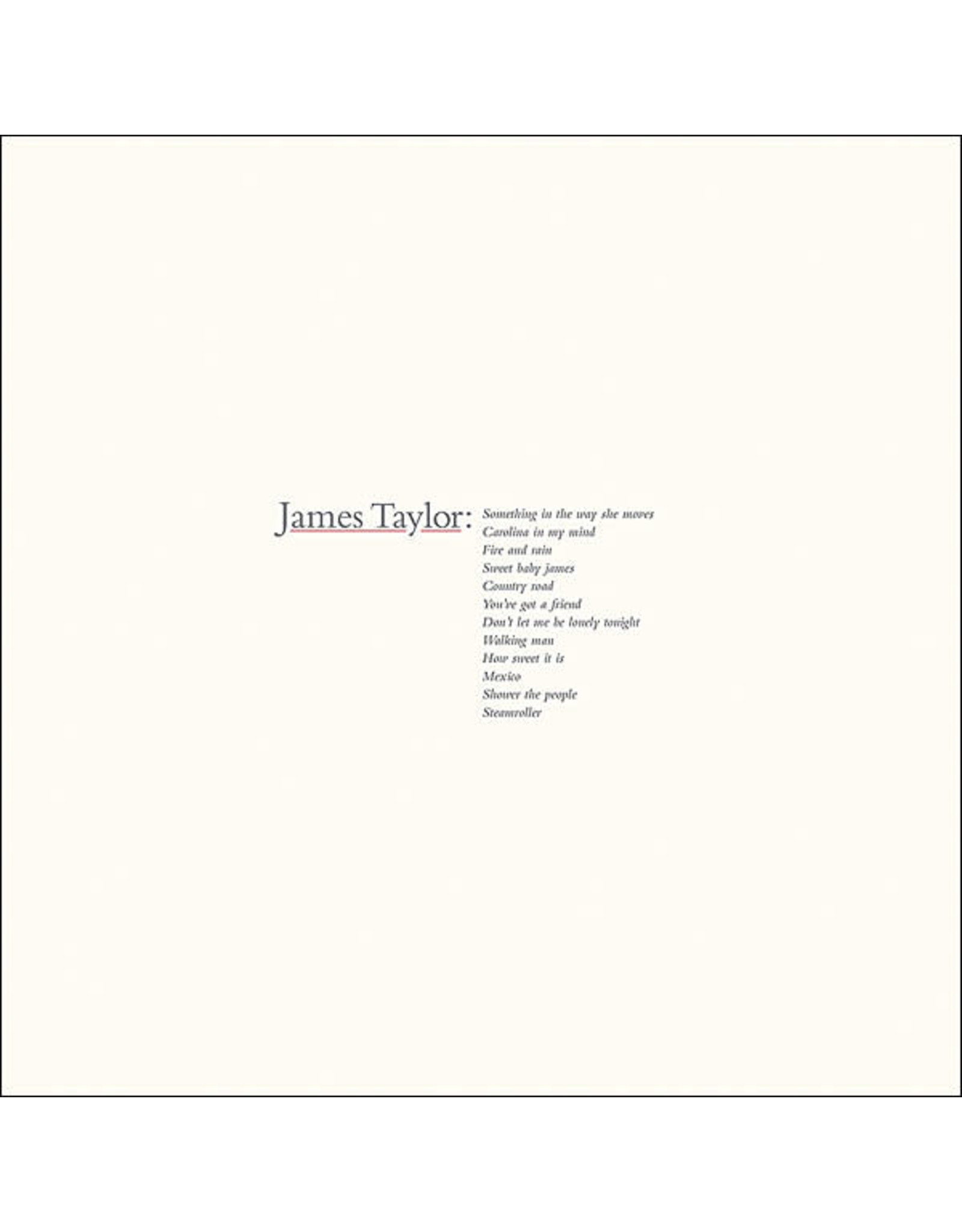 Taylor, James - Greatest Hits LP
