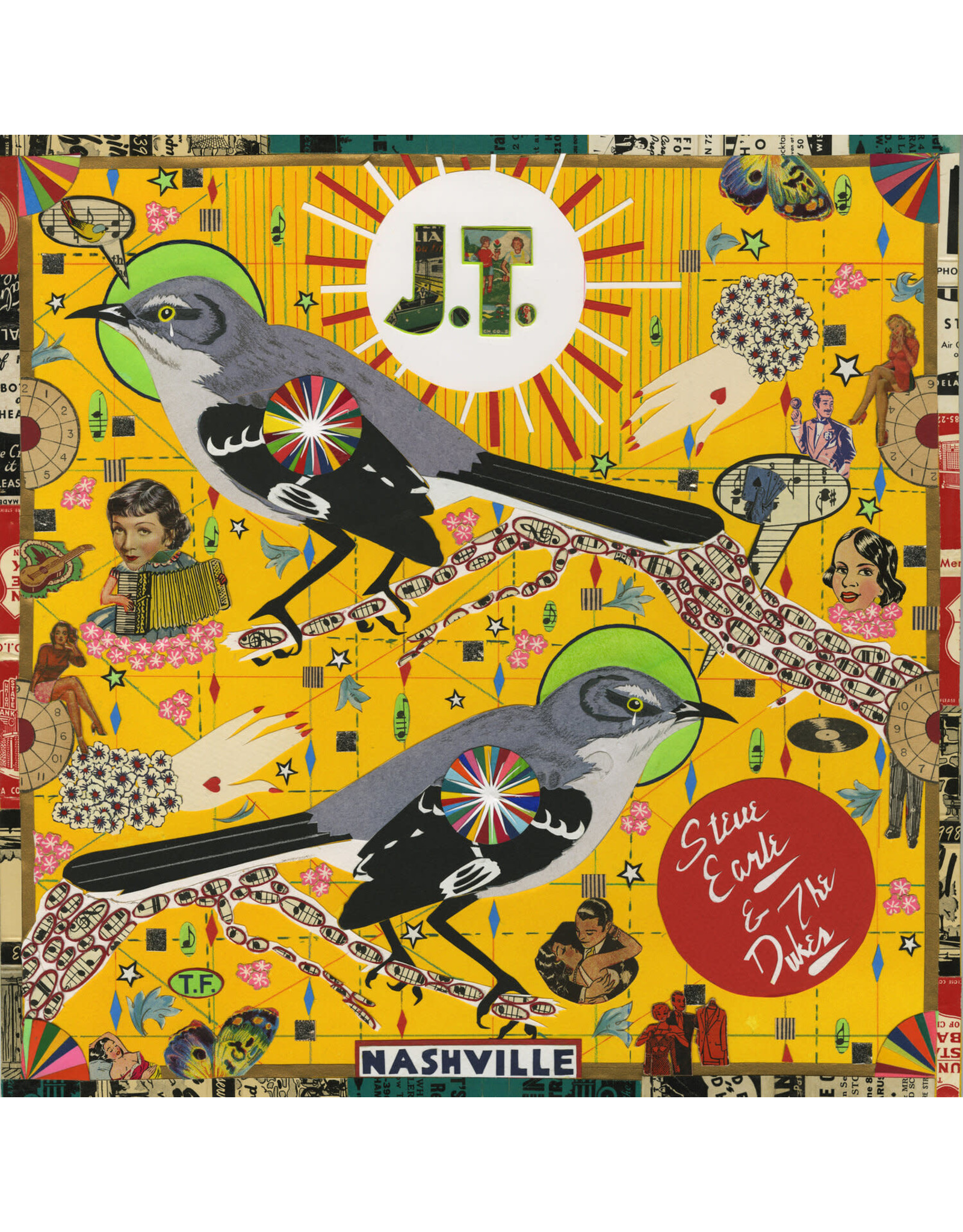Earle, Steve and the Dukes - J.T. LP (Red Vinyl)