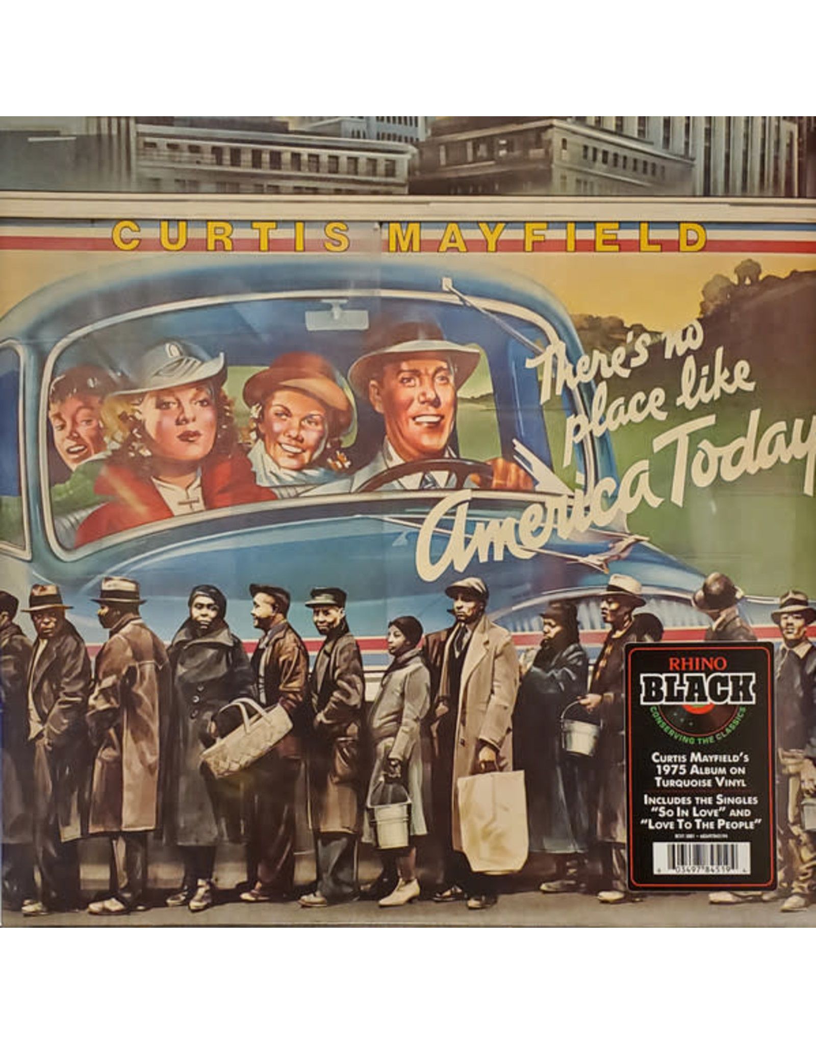 Mayfield, Curtis - There's No Place Like America Today (Turquoise LP)