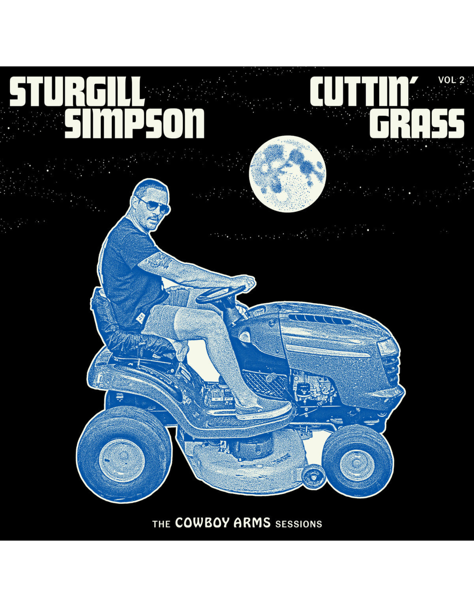 Simpson, Sturgill - Cuttin' Grass Vol. 2: The Cowboy Arms Sessions LP (Opaque Blue and White Swirl w/ Glow in the Dark Jacket)