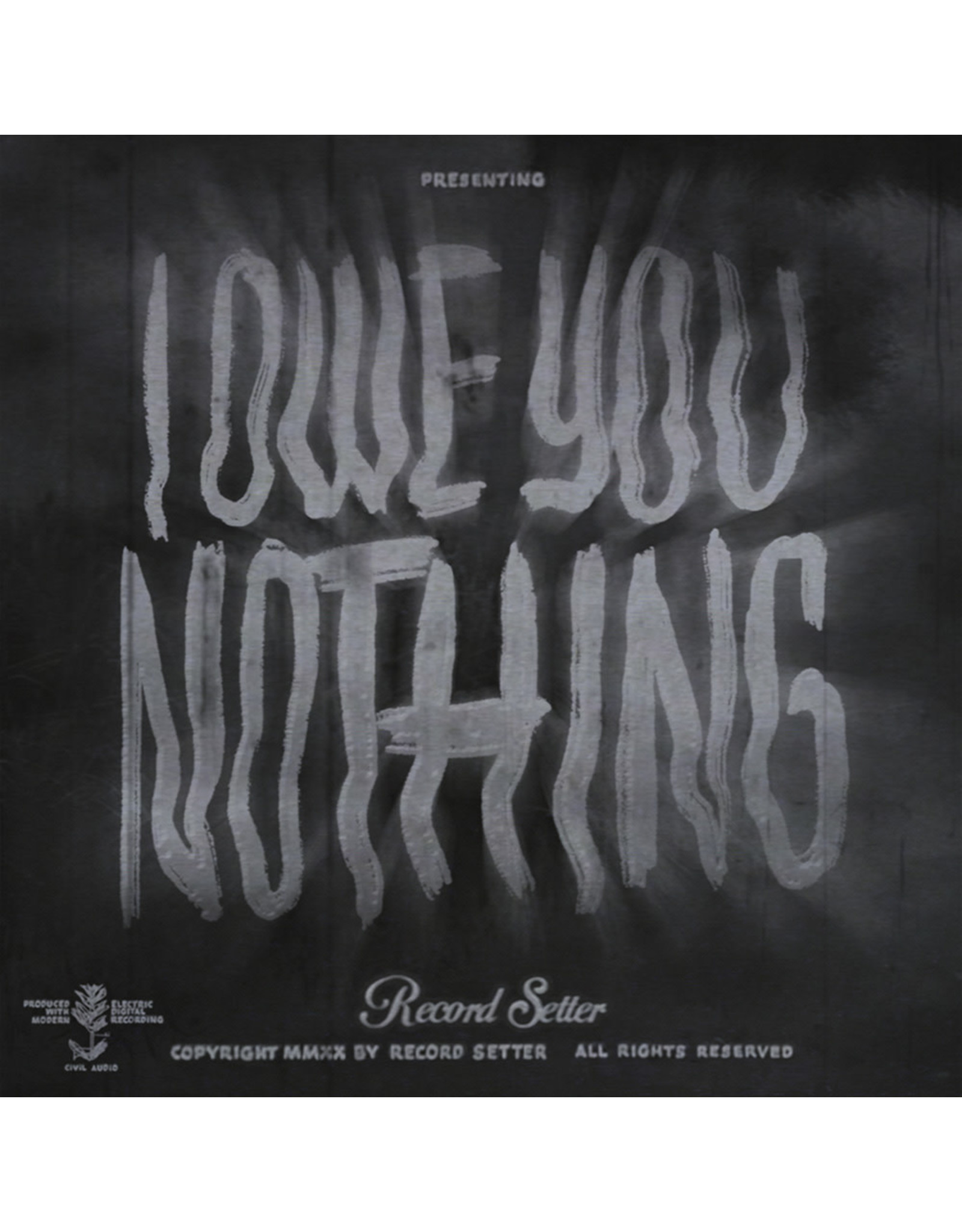 Record Setter - I Owe You Nothing LP (Gray w/ Black Swirl)