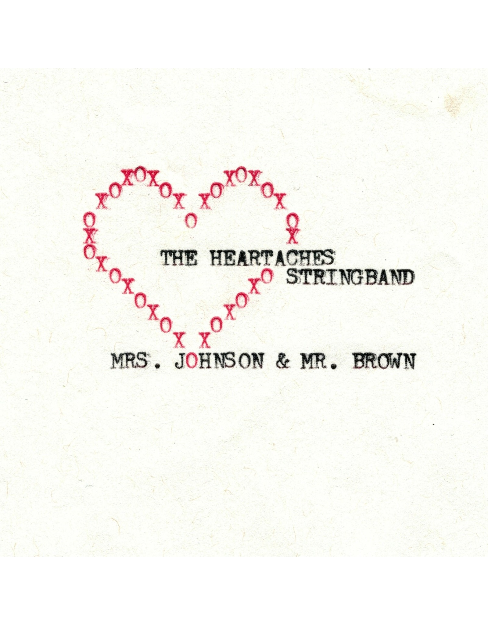 Heartaches String Band, The - Mrs. Johnson & Mr. Brown CD