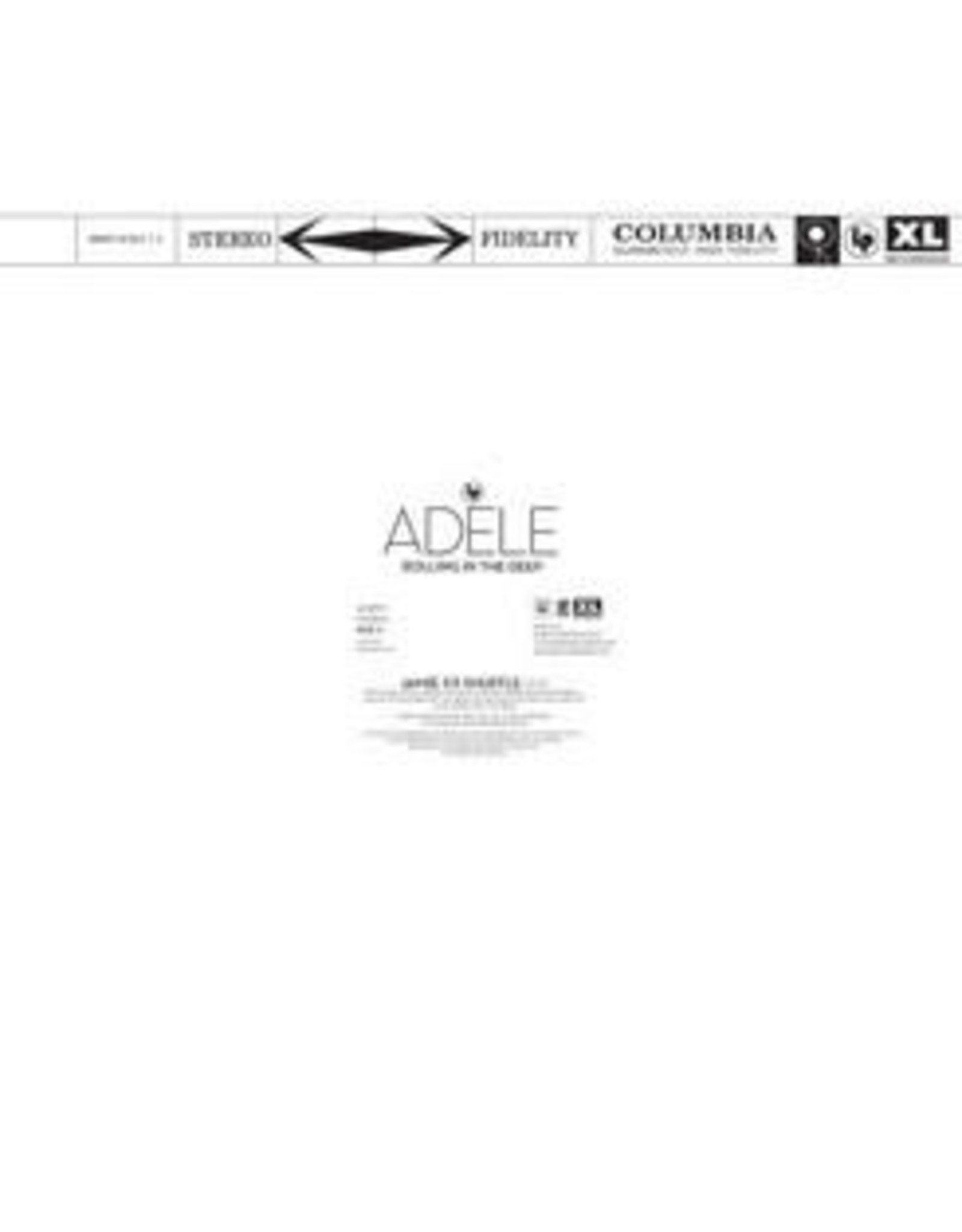 """Adele - Rolling In The Deep 10"""" (Jamie XX Remix / Live)"""