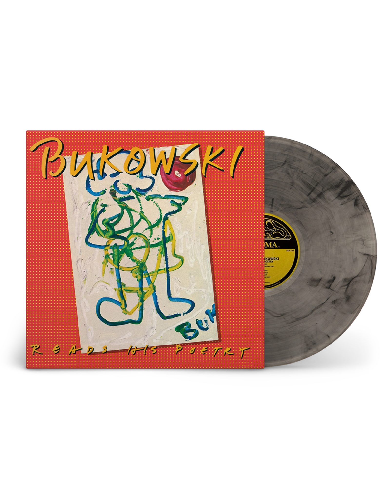 Bukowski, Charles - Reads his Poetry LP (Ashtray Clear & Black Swirl Vinyl)
