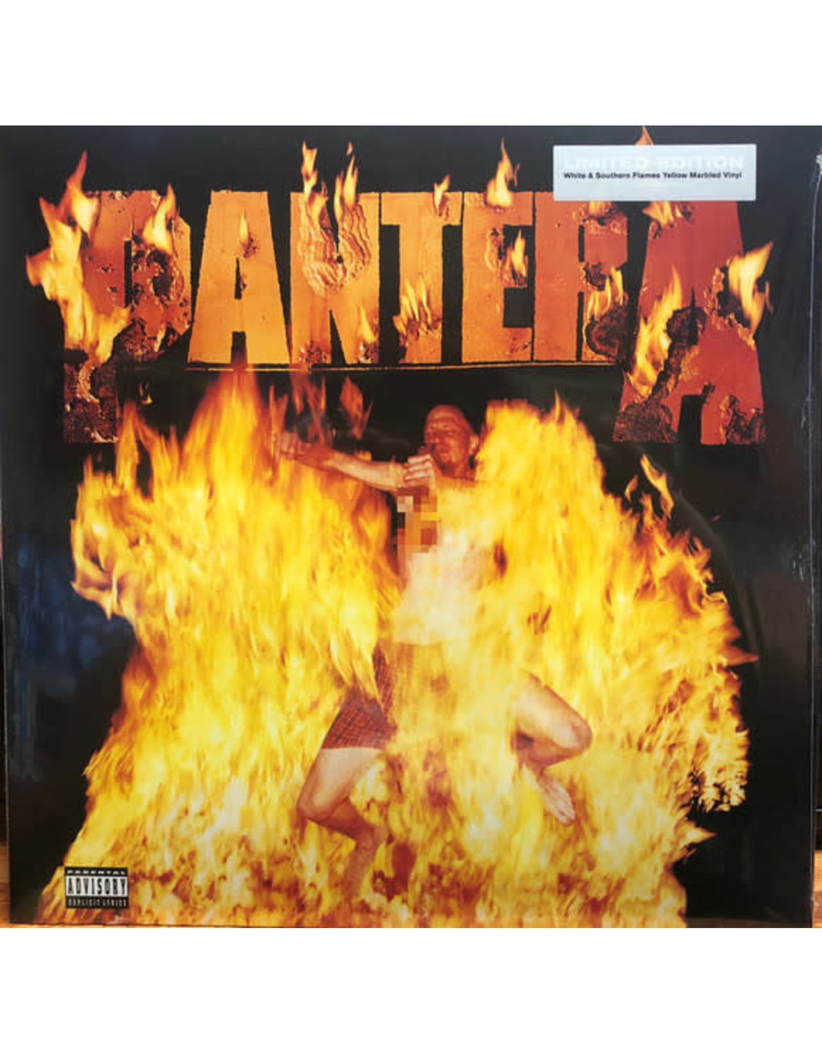 PanteraReinventing the Steel LP (Marbled White & Yellow Flames)