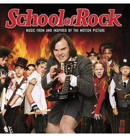 OST - School of Rock: Music From and Inspired by the Motion Picture 2LP (Ltd. Orange Vinyl w/ Etching)