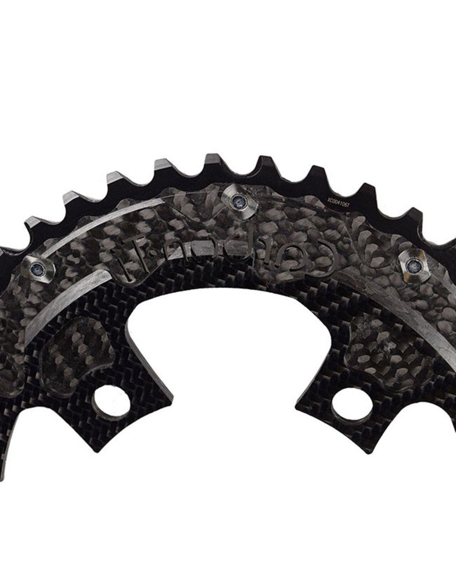 Carbon-Ti Carbon-Ti X-CarboCam 4-Arm Oval Carbon Road Chainrings