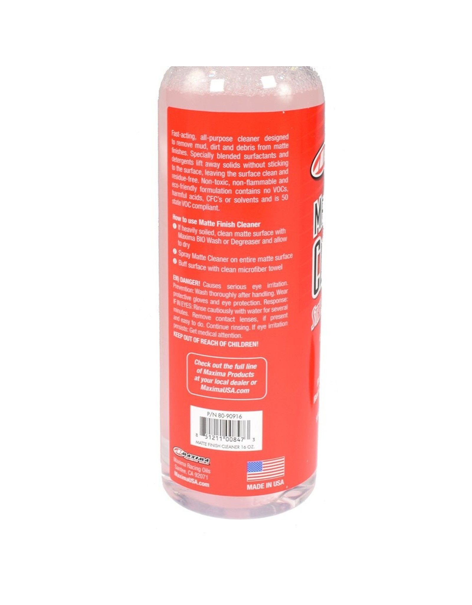 Maxima Racing Oil Maxima Matte Finish Cleaner 16oz Spray