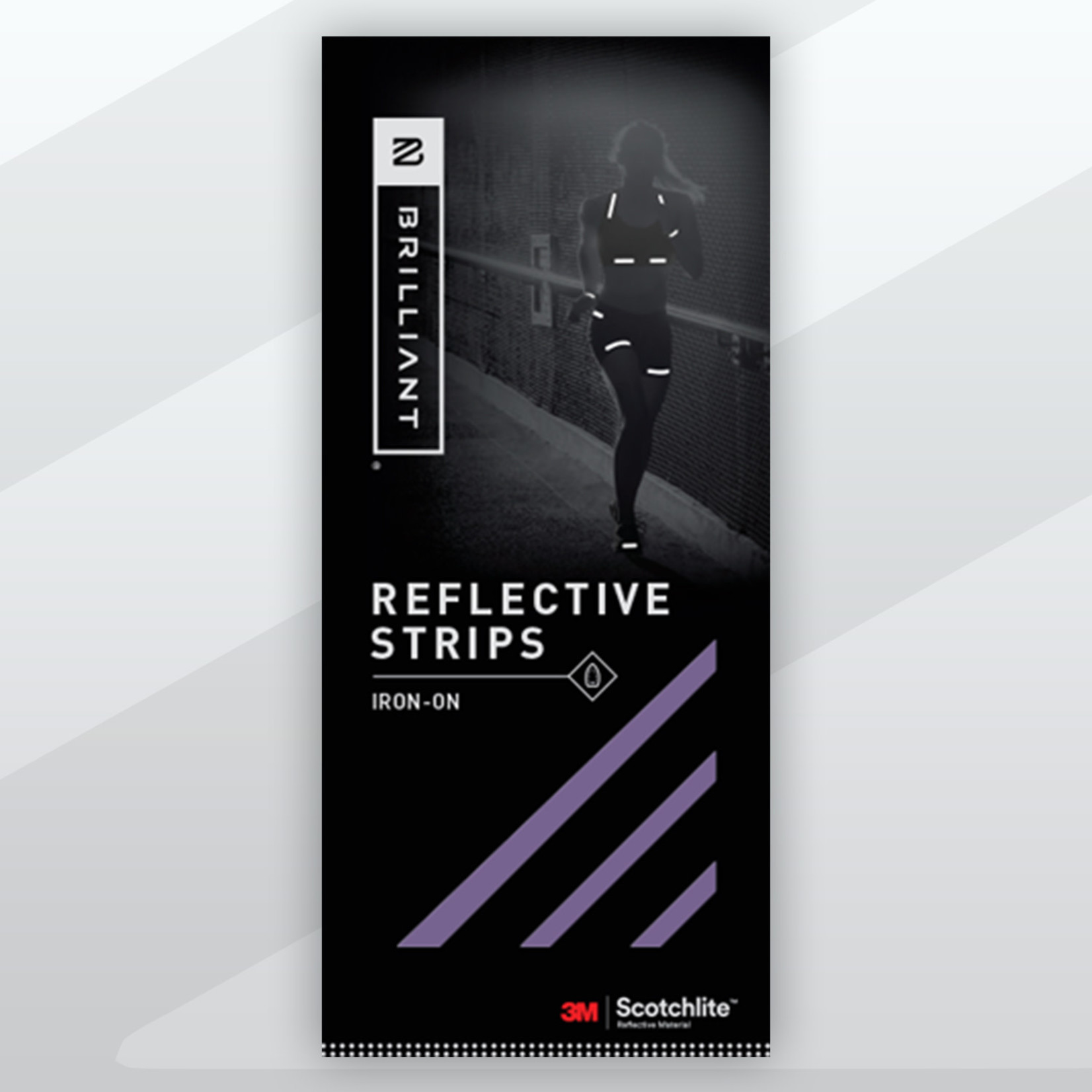 Brilliant Reflective Strips Iron-On