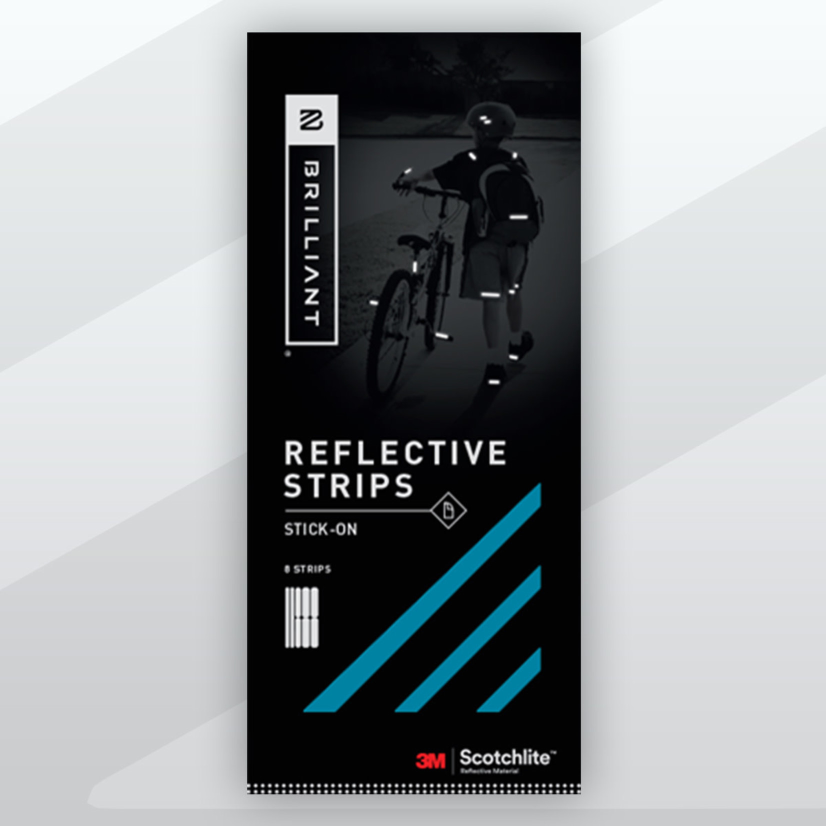 Brilliant Reflective Strips Stick-On