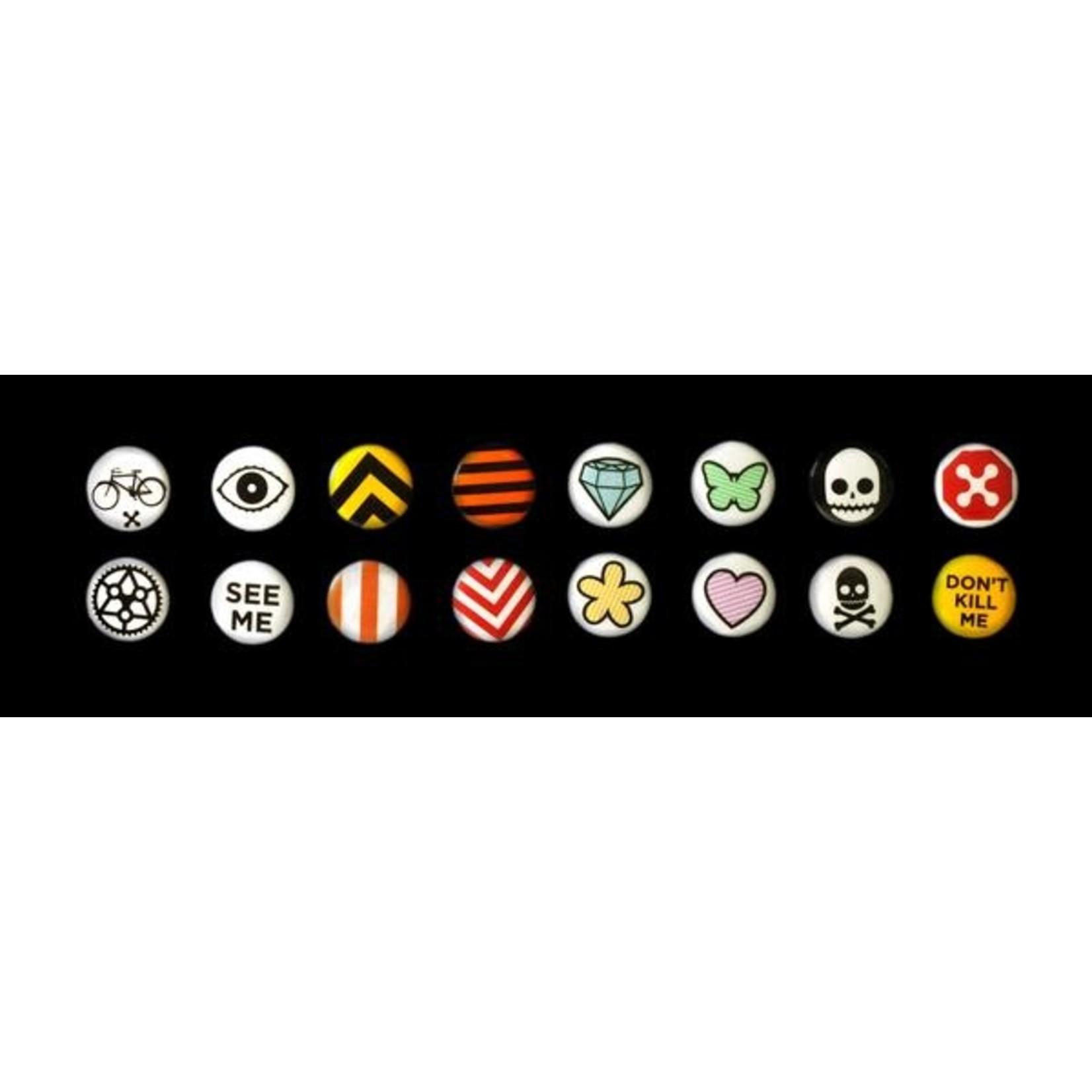 Rydesafe Reflective Buttons Assorted single