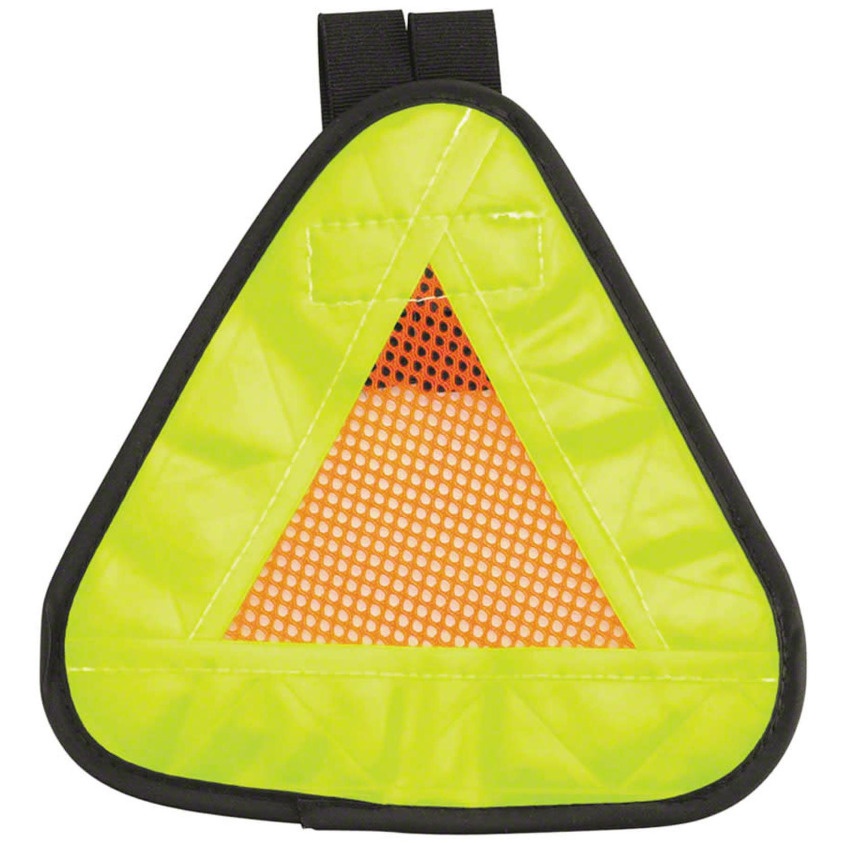 "Aardvark Reflective Triangle Yield Symbol 7x7"" with Velcro Strap"