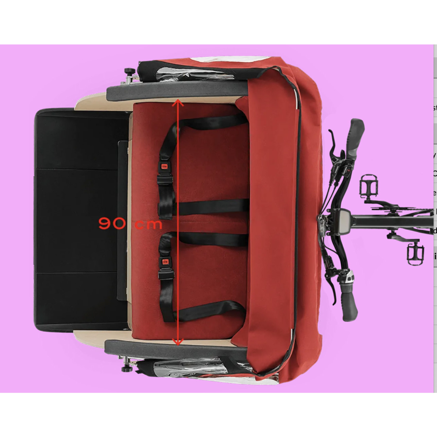 TRIOBIKE Triobike Taxi Mid-Drive Nexus 8