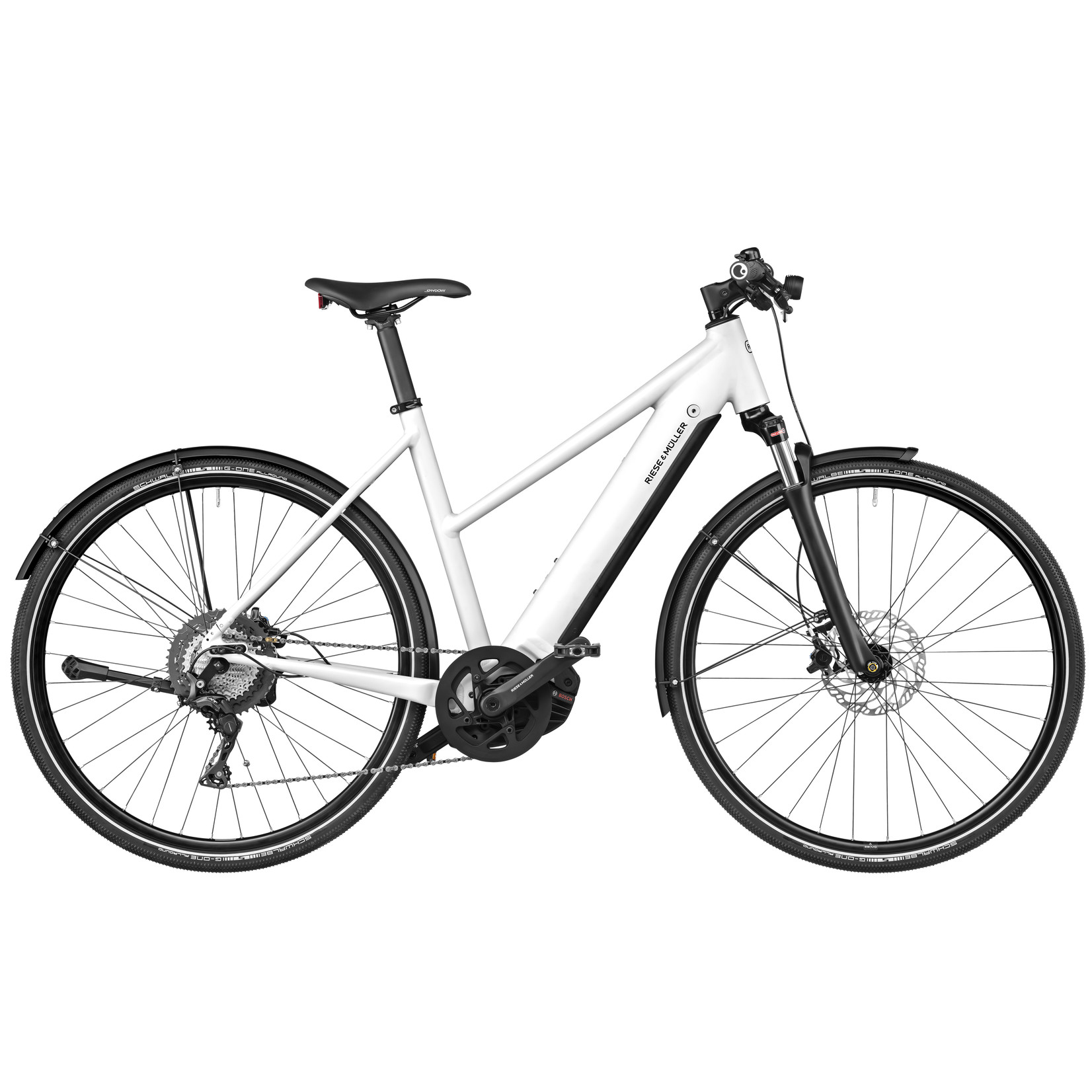 Riese & Muller Riese & Muller, Roadster Mixte Touring, 53 cm, Crystal White