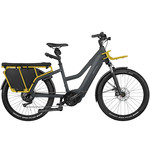 Riese & Muller Riese & Muller Multicharger Mixte GT light, Utility Grey/curry Matte w Passenger Kit, Cargo bags and Chain Lock w/Bag