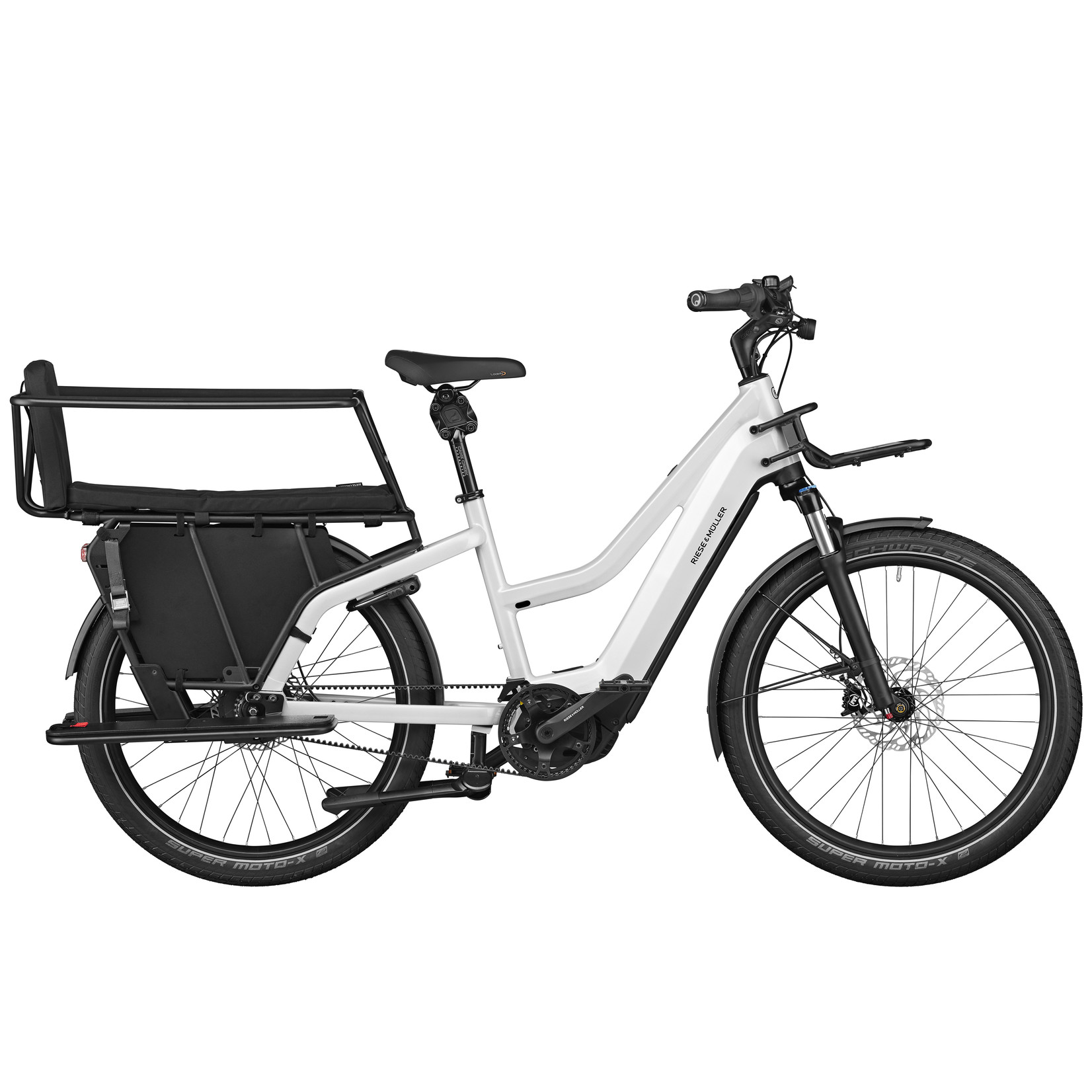 Riese & Muller Riese & Muller, Multicharger Mixte GT light, Pearl White, With Safety Bars, Passenger Kit and Cargo Bags
