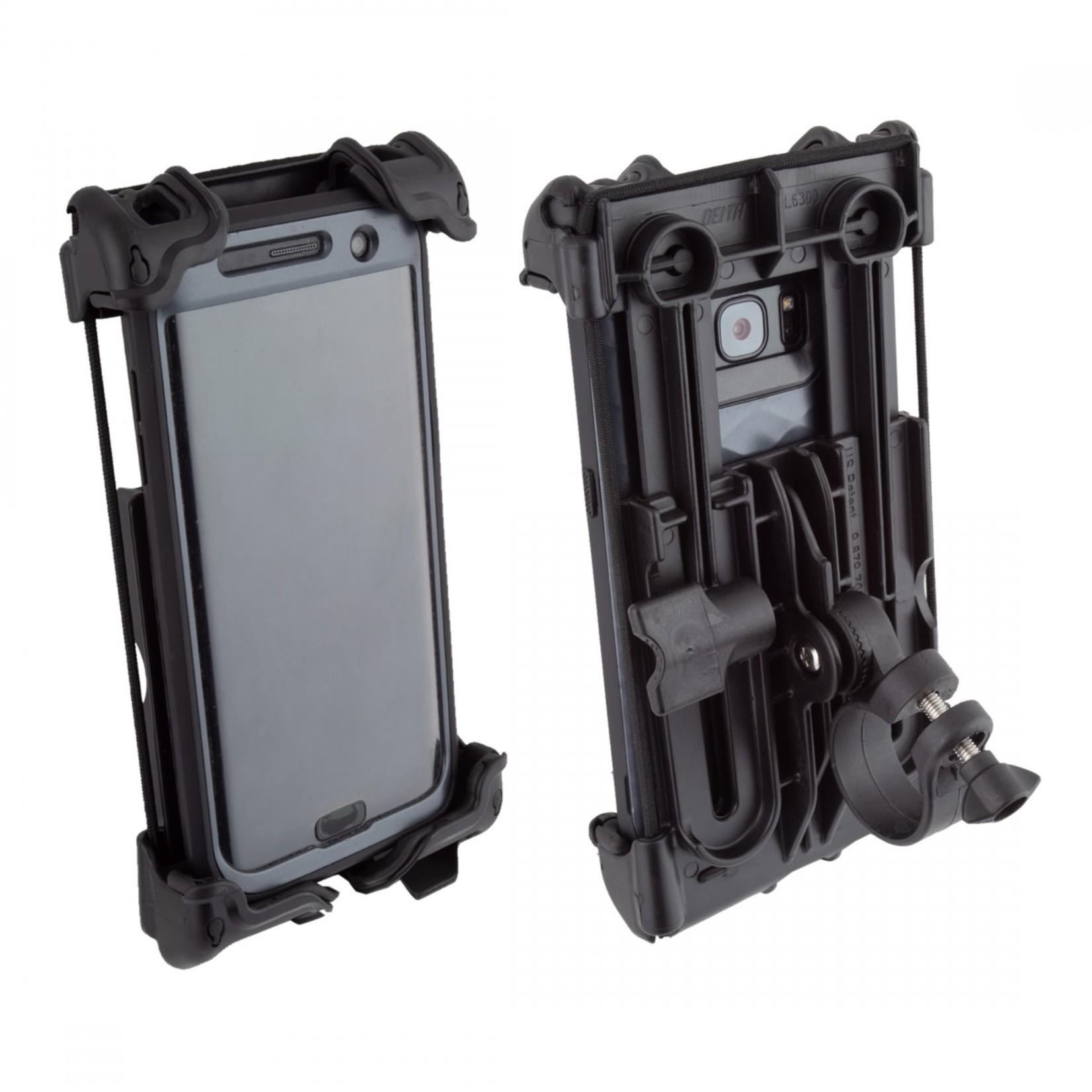 Handlebar Mount Delta Smart Phone Holder Hefty Plus Black HL6300JB