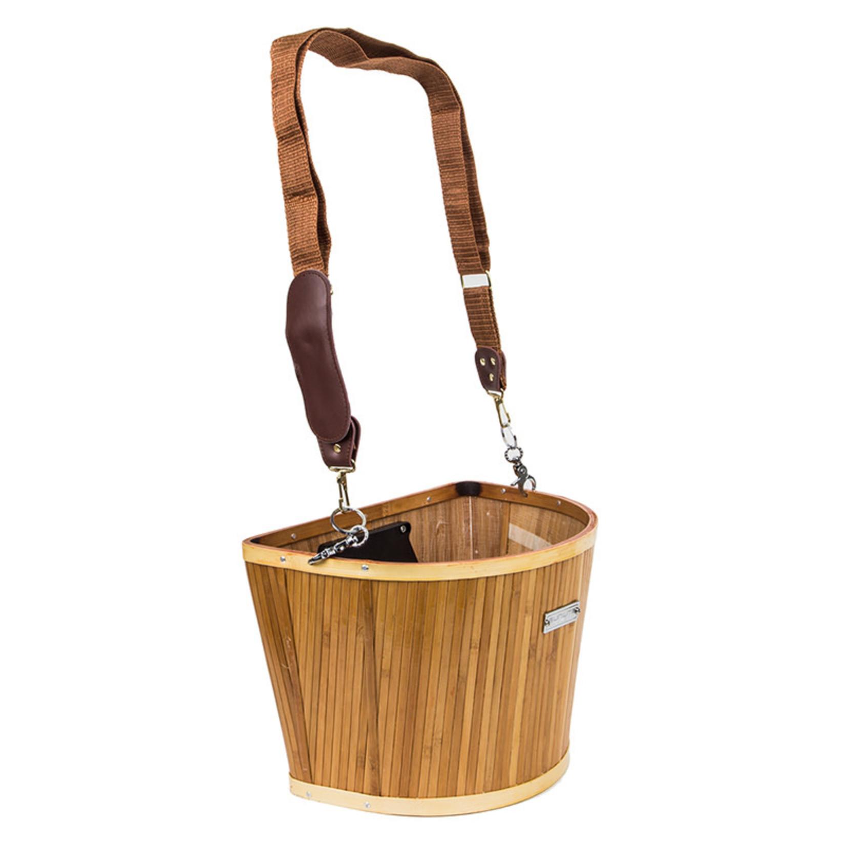 Sunlite Front Basket Bamboo w/Bracket