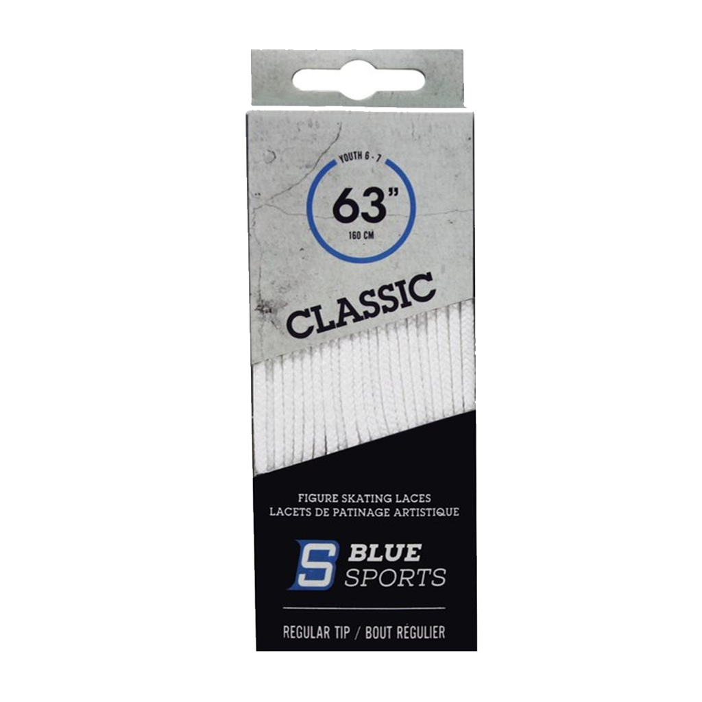 Blue Sports Classic Figure Skate Laces