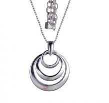 Elle .925 Rhodium Plated Triple Circle Pendant