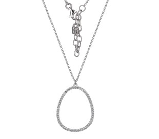 Elle .925 Halo Style Necklace with CZ Stones