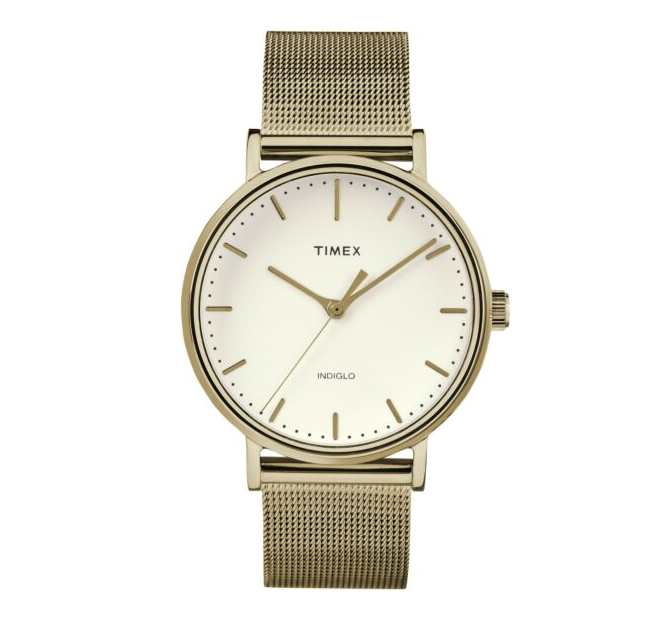 Timex Ladies Gold Tone Fairfields Watch 37MM
