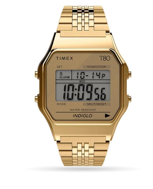 Timex Timex Digital T80 34mm Stainless Steel Bracelet Watch