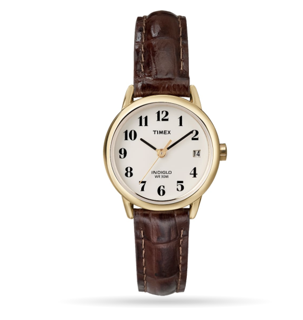 Timex Easy Reader 25mm Leather Strap Watch