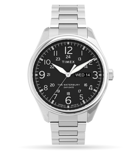 Timex Waterbury Traditional 42mm Stainless Steel Bracelet Watch