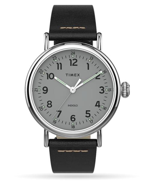 Timex Timex® Standard 40mm Leather Strap Watch