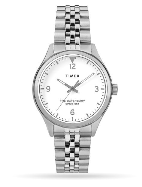 Timex Waterbury Traditional 34mm Stainless Steel Bracelet Watch
