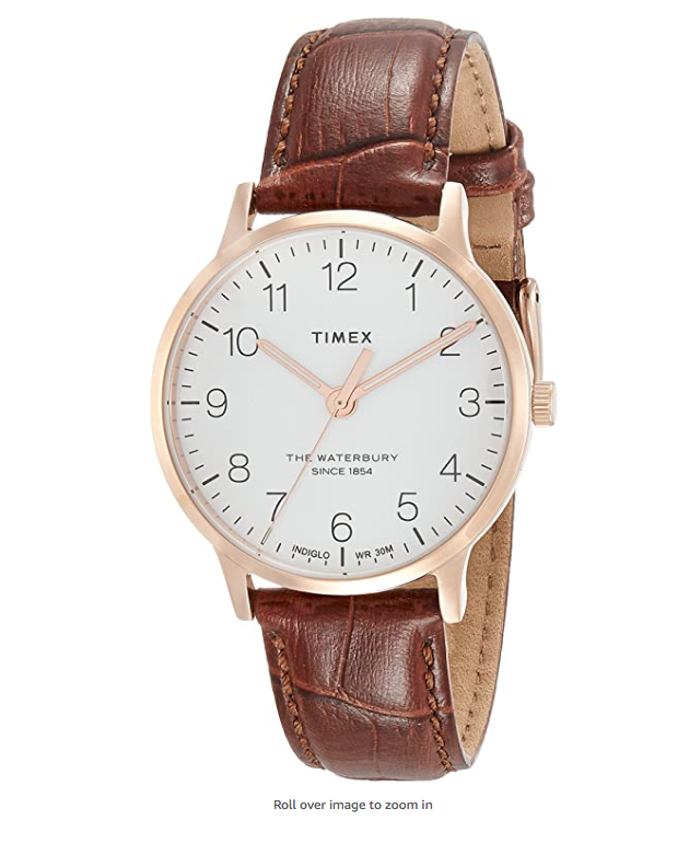 Timex Women's Waterbury Classic 36mm Leather Strap Watch