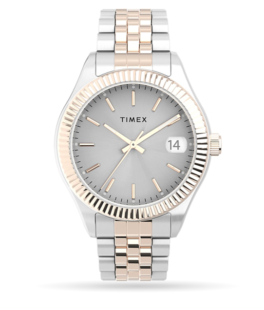 Timex Waterbury Legacy 34mm Stainless Steel Bracelet Watch