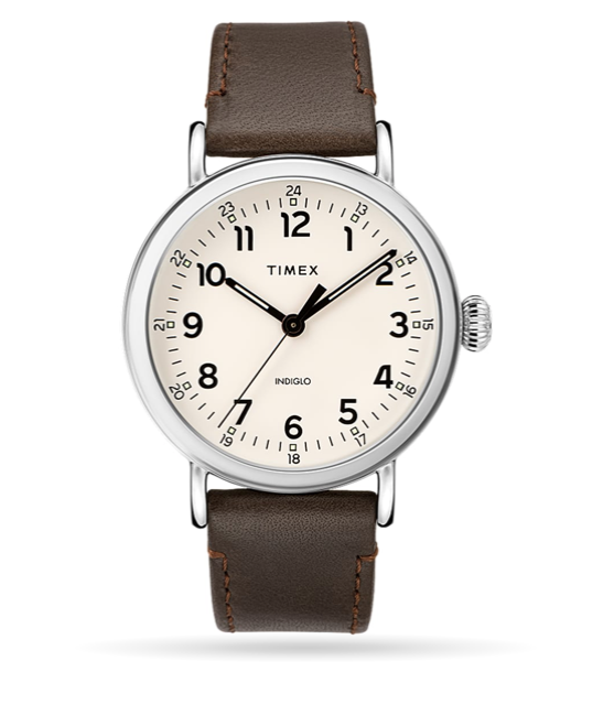 Timex Timex® Standard 40mm Leather Strap Watch