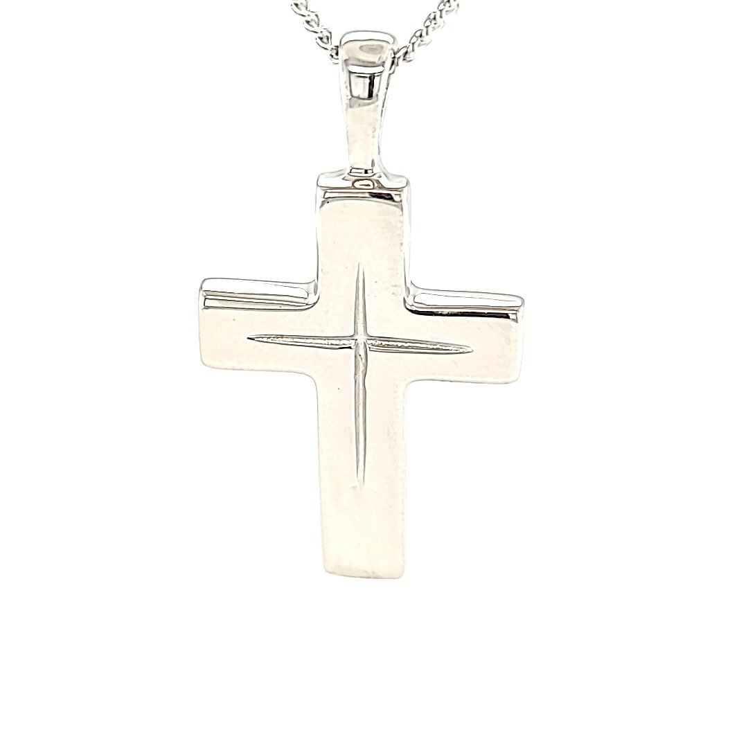 .925 Large Solid Star Cut Cross