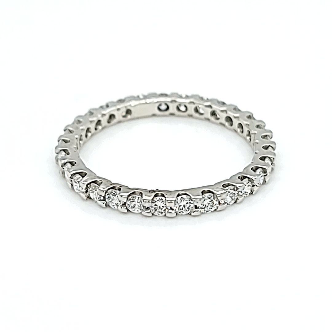 Platinum Eternity band Size 7 Lab Grown Diamonds .87cttw