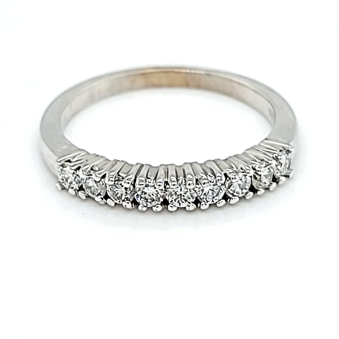 14KW Lab Grown Diamond Prong Set Wedding Band 0.50CTTW
