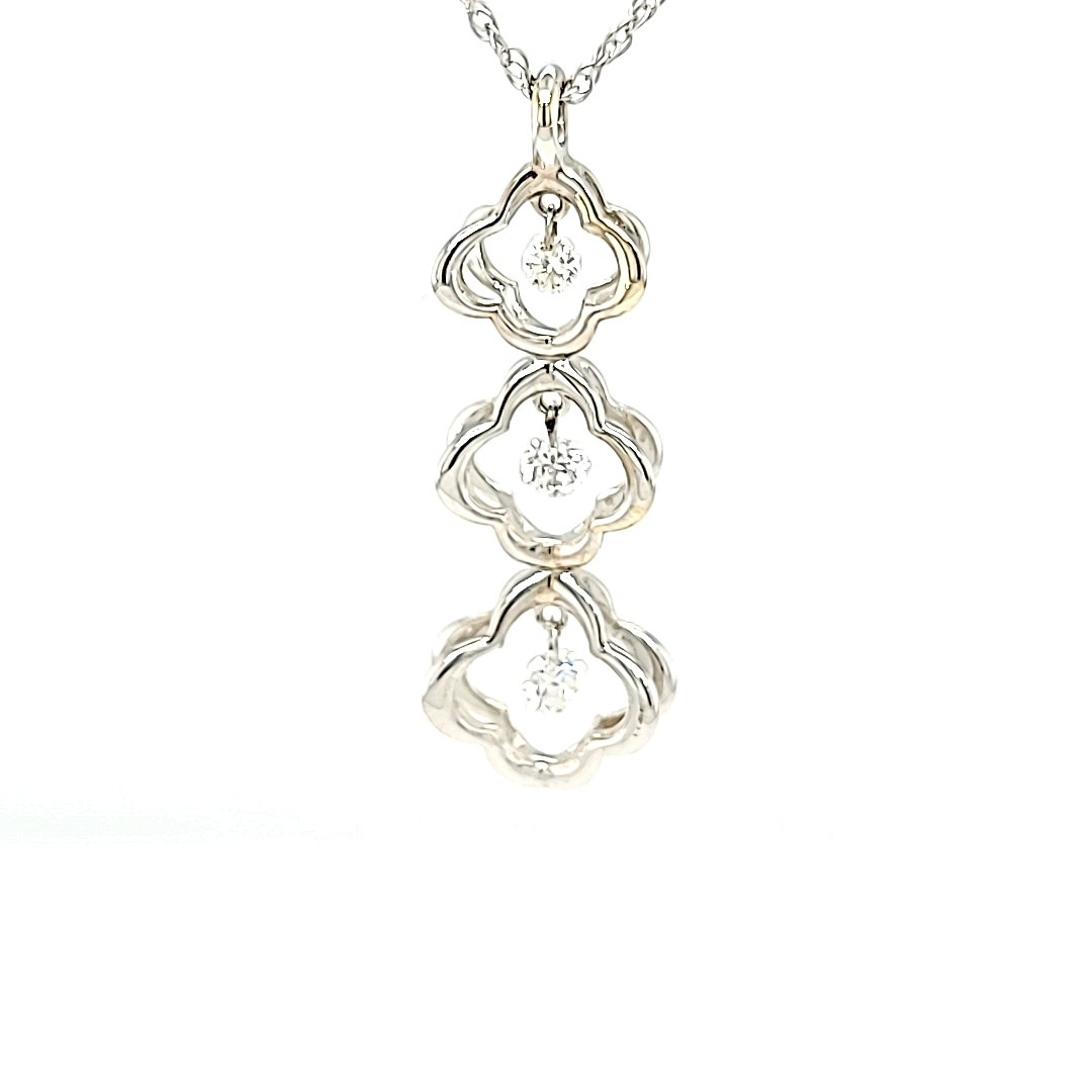 14KW Dashing Diamond Pendant 0.23CTTW